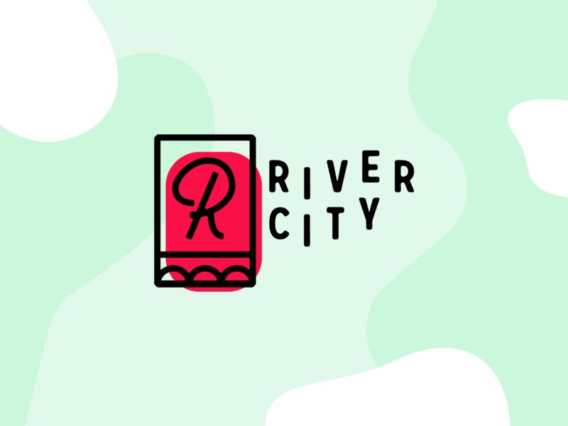 River City Logo spokane brand r organic abstract city river bridge icon typography vector design illustration branding logo