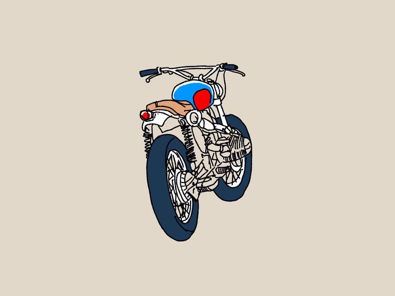 Scrambler procreate app nyc bmw scrambler motorcycle moto sketch procreate design editorial texture branding illustration