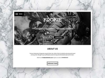 Kookie Tattoo landing page