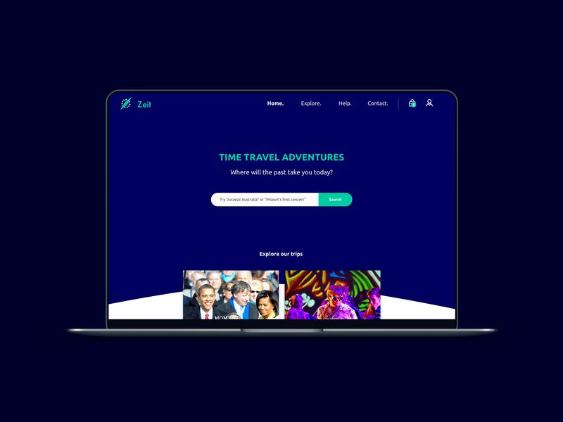 Zeit Time travel homepage