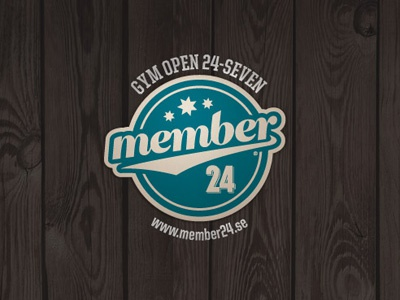Member 24 – Logo logo logo design vintage retro gym member