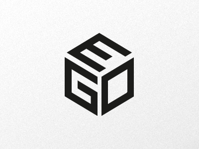 EGO – Magazine logo logo logotype logo design clean cube typography