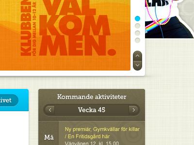 Details – web design project sliders slider calendar web design web gui linen