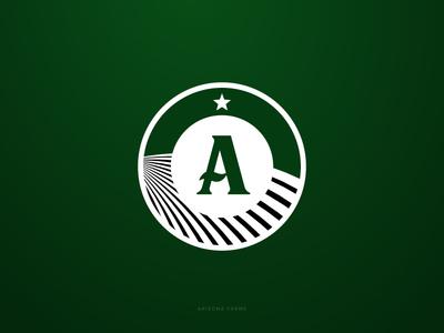 Arizona Farms badge field farm design logo farms