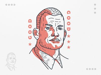 Jocko Willink logo vector engrave lineart america head illustration face podcast good willink jocko
