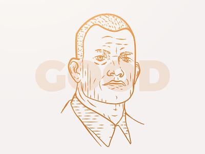Jocko Willink - Good classic vintage etch engraving engrave face portrait podcast good willink jocko