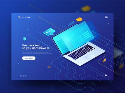Technology Header Concept