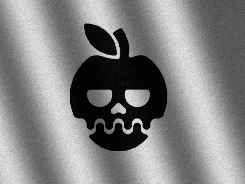 Bad Apple logo badge logo minimal illustration apple bad