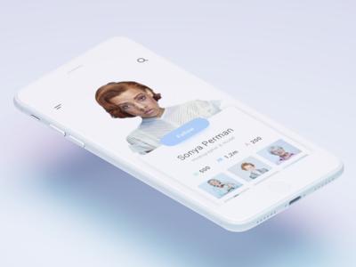 Daily Ui - User Profile smooth colors daily ui message creative design ui mobile app user profile mobile