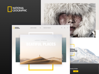 National Geographic redesign photography single page redesign natgeo web desert north landing page web design nature national geographic