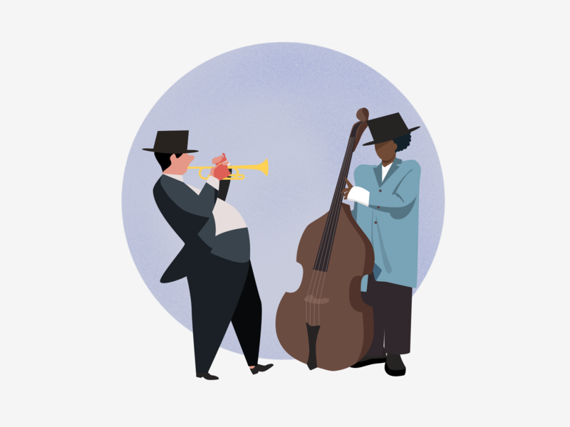 Musicians music musicians jazz concert saxophone illustration