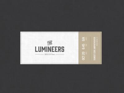 The Lumineers Concert Ticket
