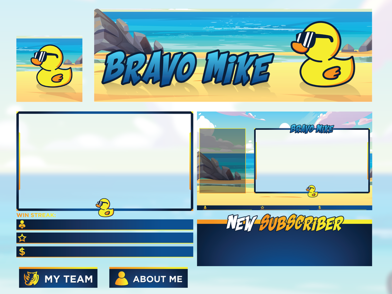 Bravo Mike | Twitch Branding videogame panel screen overlay youtube mixer live twitch gaming game esports stream branding brand design graphic