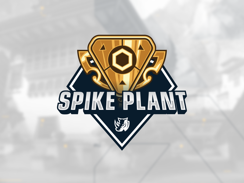 Spike Plant | Tournament Logo planted live stream twitch twitter esports game gaminglogo fps shooter valorant gaming trample plant spike graphic logodesign branding logo tournament