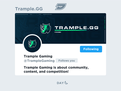 Trample Gaming | Social Media Layout media social mixer youtube twitter stampede rhino design graphic layout header live twitch stream competitive game team esports gaming trample