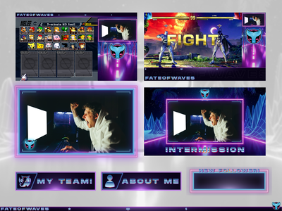 FateOfWaves | Twitch Branding branding gaming esports graphic design layout valorant ssb smash melee sfv fgc alert panel screen youtube live stream twitch