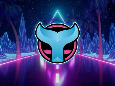 FateOfWaves | Logo Design twitch game gaming esports branding brand graphic design logo ocean sea tail orca vaporwave vapor waves fate