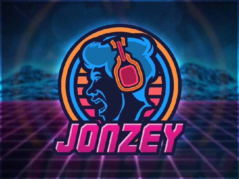 Retro 80s Neon Jonzey Logo by Dawson Davis on Dribbble