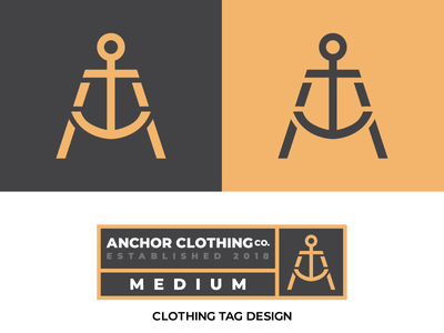 #ThirtyLogos 10 - Anchor icon thirty days thirty day logo challenge label monogram brand clothing anchor branding logo