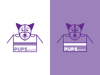 #ThirtyLogos 15 - Pups thirty day logos thirty day logo challenge delivery box subscription pet brand pawprint paw puppy pups dog branding logo
