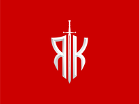 """RK"" Sword & Shield Letter Logo for Reborn Knights"
