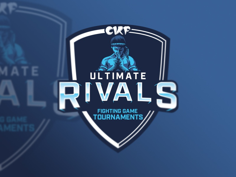 CKF - Ultimate Rivals Logo mascot rivals fighting kungfu comic smash ultimate smash bros esports tournament games video badge brand design logo