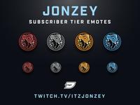 Twitch Sub Tier Emotes - Jonzey