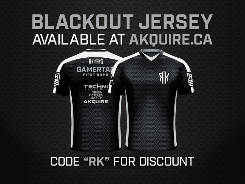 Blackout Jersey Design for Reborn Knights game streetwear shield monogram medieval knight hoodie gaming fashion esports design chainmail brand blackout jersey badge logo letter badge apparel