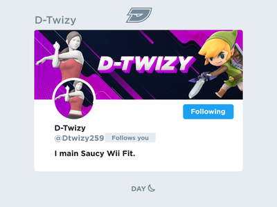 D-Twizy - Social Media Header stream esports gaming game ultimate bros smash super young link trainer fit wii graphic design layout media social header twitter