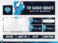 Tri-Sarah-Squats  |  Twitch Branding