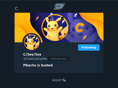 C - Social Media Header busted wizard stream video gaming game esports twitter pokemon pika header socialmedia social pikachu ssb ultimate bros smash super