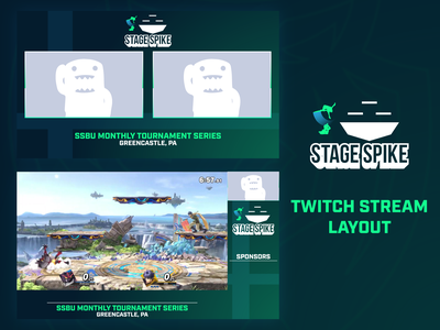 Stage Spike - Live Stream Layout gaming game esports spike stage inkling lucina ultimate bros smash super series ssb tournament twitch.tv mixer live stream twitch