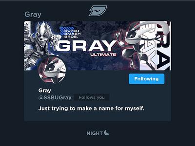 Gray | Social Media Header twitch esports gaming game ssb greninja fox star wolf pokémon melee ultimate bros smash super twitter header media social