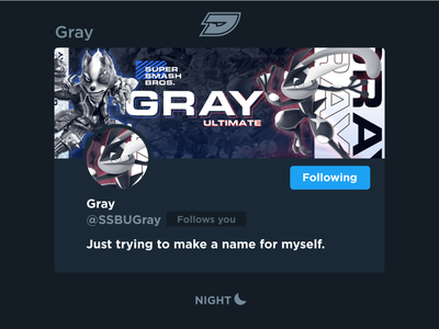 Gray | Social Media Header twitch esports gaming game ssb greninja fox star wolf pokémon melee ultimate bros smash super twitter header media social