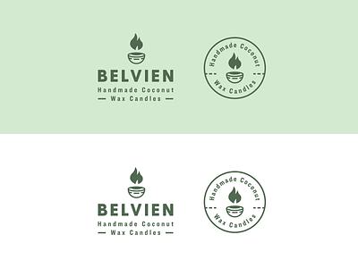 Belvien Candles Logo & Branding candle logo candle company candle branding candles logos badge logo logo design minimal modern monoline brand identity brand logo branding
