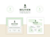 Belvien Branding & Label Design label design candle label packaging badge logo logo design minimal modern monoline brand identity brand logo branding