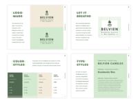 Belvien Brand Guide brand designer logo designer brand guide identity badge logo logo design minimal modern monoline brand guidelines brand guide brand identity brand logo branding