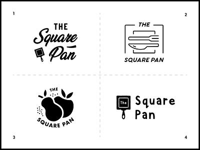 The Square Pan Logo Options logo concepts logo designer branding designer logos badge logo logo design minimal modern monoline brand identity brand logo branding