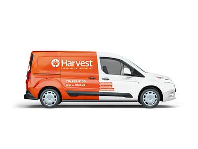 Harvest Landscape Van Wrap van design car design landscape harvest van wrap van brand logo branding