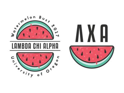 Charity Badge Logo frat fraternity fruit charity watermelon badge logo badge