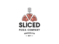 Sliced Pizza Logo