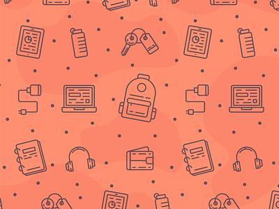 Illustration Icon Pattern icon pattern icon set business tech school office illustration icon pattern