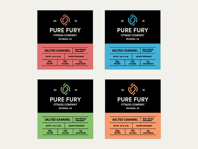 Pure Fury Product Labels brand protein label exercises weightlifting fitness fury pure product label powder protein brand identity logo branding