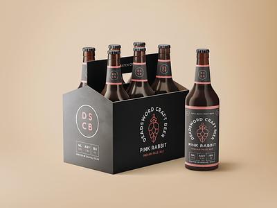 Beer Bottle Packaging 6 pack logo design logo beer packaging beer bottle beer branding deadsword beverage beer packaging logos brand modern monoline brand identity branding