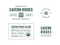 Cavern Ridges Coffee Brand Elements
