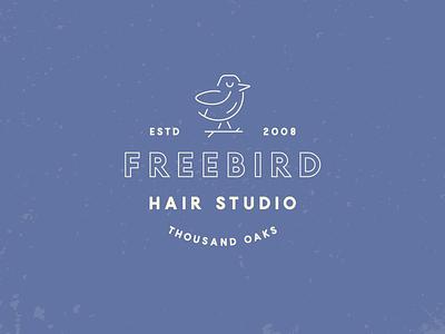 Freebird Hair Studio Branding bird freebird hair studio haircut hair salon logos monoline brand identity brand branding logo
