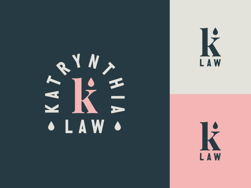 K Law Logo & Branding cosmetics klaw k logo monogram k logo design minimal logos badge logo modern monoline brand identity brand branding logo
