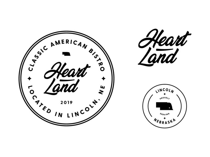 Heartland Bistro Logo & Branding badge logo design vintage retro heartland restaurant branding restaraunt bistro monoline logos modern badge logo brand identity brand branding logo