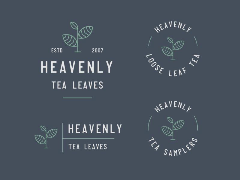 Heavenly Tea Leaves Branding loose leaf tea heavenly tea leaves tea branding tea logo tea company vector logo design minimal badge logo modern monoline brand identity brand branding logo