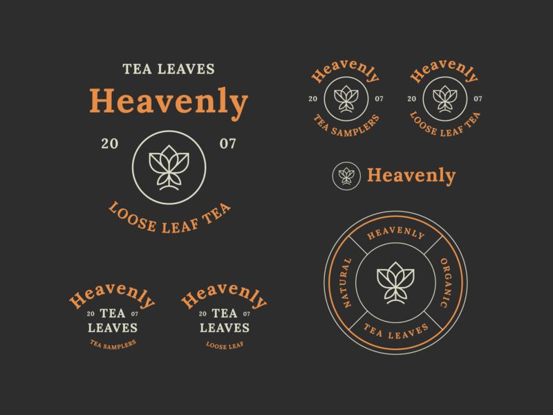 Heavenly Tea Leaves Branding #2 badge logos design logo lockups tea logo tea branding tea logo design minimal badge logo modern monoline brand identity brand branding logo